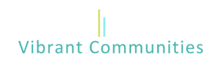 Vibrant Communities Logo White