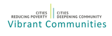 Vibrant Communities Logo White Background