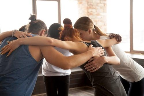 Workshop team huddle